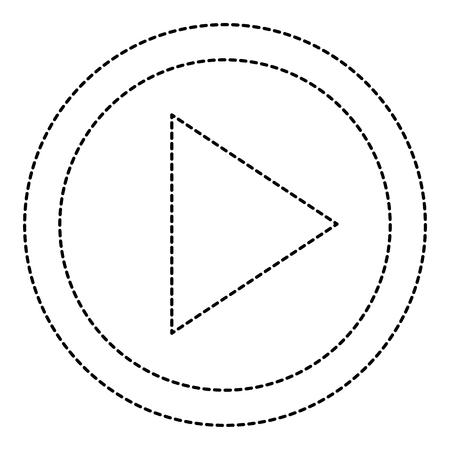 Botón de reproducción icónico ilustración vectorial de diseño Foto de archivo - 90831706