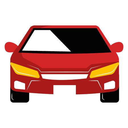 現代の車孤立したアイコンベクトルイラストデザイン