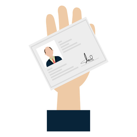 hand with id licence vector illustration design Illusztráció