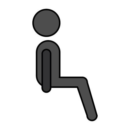 silhouette of passenger sitting vector illustration design