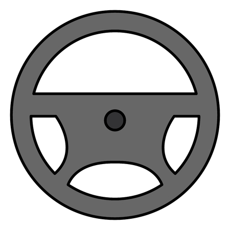 steering wheel isolated icon vector illustration design Ilustração
