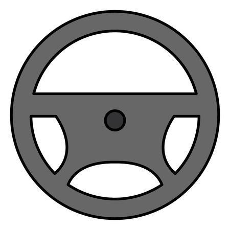 steering wheel isolated icon vector illustration design Illustration
