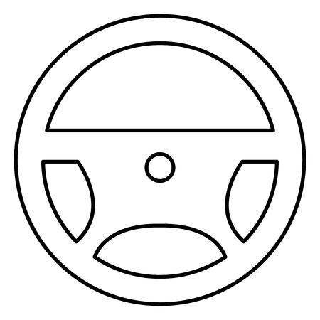 스티어링 휠 격리 아이콘 벡터 일러스트 디자인 일러스트