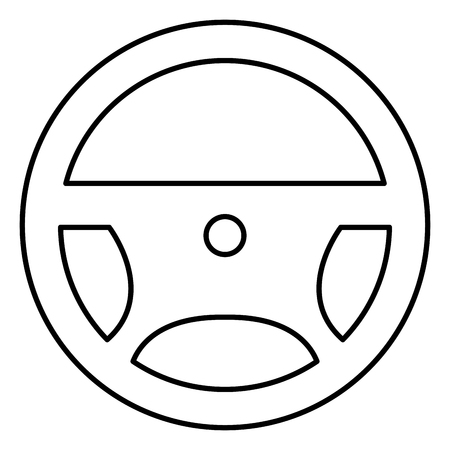 steering wheel isolated icon vector illustration design 向量圖像