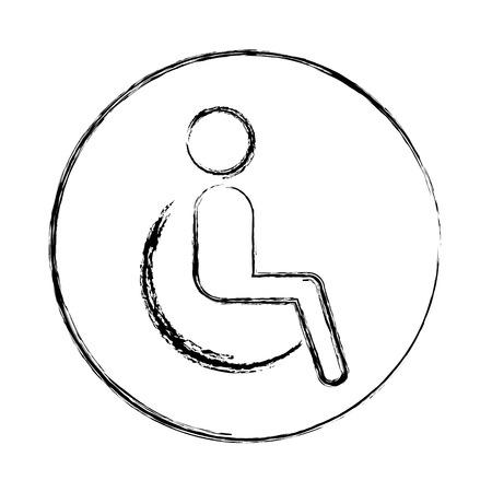 disable person silhouette icon vector illustration design
