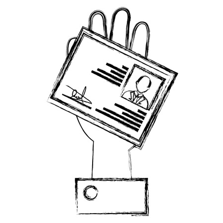 hand with id licence vector illustration design Illustration