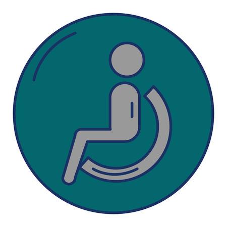 Désactiver personne silhouette icône vector illustration design Banque d'images - 90832753