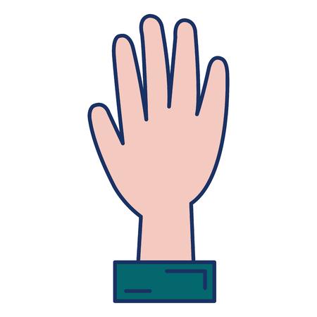 hand human isolated icon vector illustration design Vettoriali