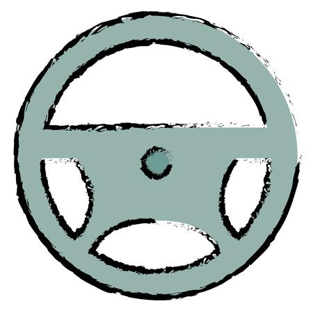 steering wheel isolated icon vector illustration design 向量圖像