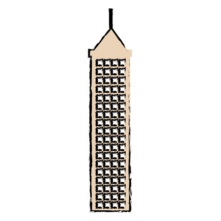 skyscraper building isolated icon vector illustration design