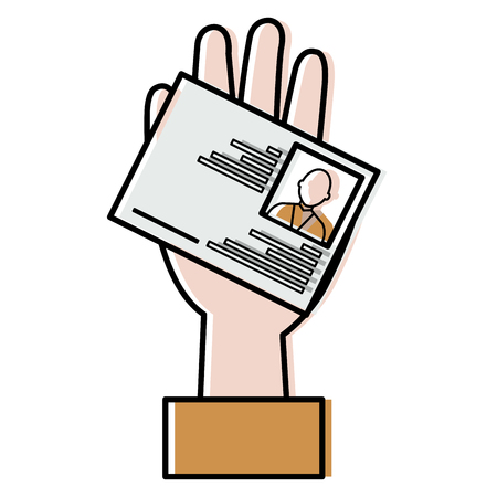 hand with id licence vector illustration design 일러스트