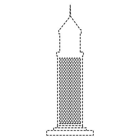 skyscraper building isolated icon vector illustration design