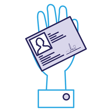 hand with id licence vector illustration design 向量圖像