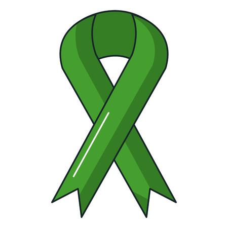 ribbon campaign isolated icon vector illustration design