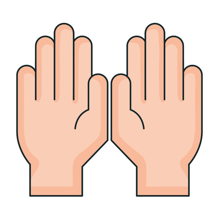 hands protected isolated icon vector illustration design Ilustração