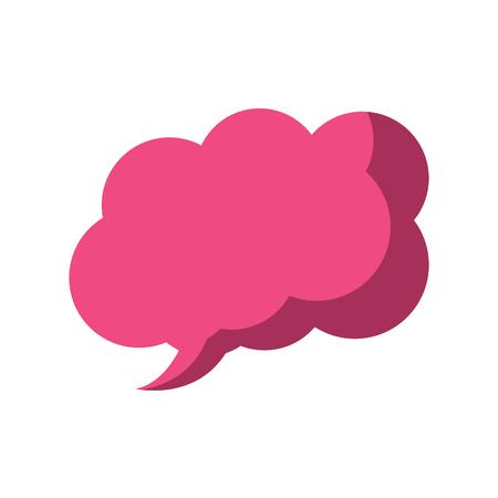 pink speech bubble message dialog chat vector illustration