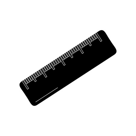 school ruler measure geometric scale equipment icon vector illustration black image
