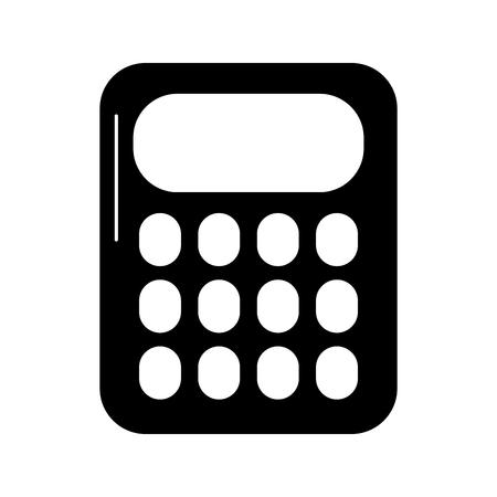 school calculator math count electronic vector illustration black image Stock Illustratie