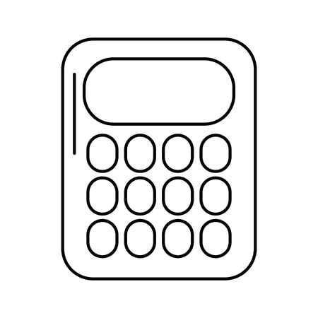 school calculator math count electronic vector illustration outline