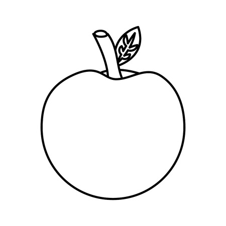 school apple back study elementary symbol vector illustration outline Ilustracja