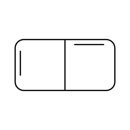 eraser rubber school stationery icon vector illustration outline