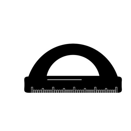 学校分度器幾何学的供給要素アイコンベクトル図。