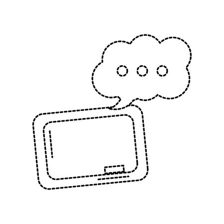 School blackboard and eraser speech bubble icon vector illustration. Stock Vector - 90840264