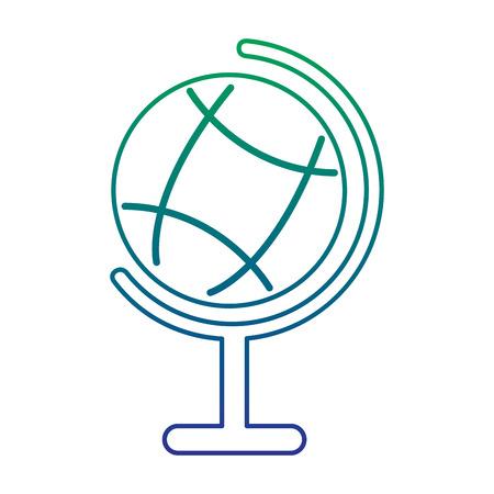학교 세계지도 세계 연구 지리학 지식, 벡터 일러스트 레이 션.