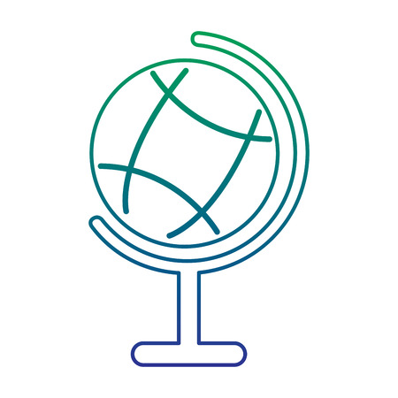 School globe map world study geographic knowledge, vector illustration. Иллюстрация