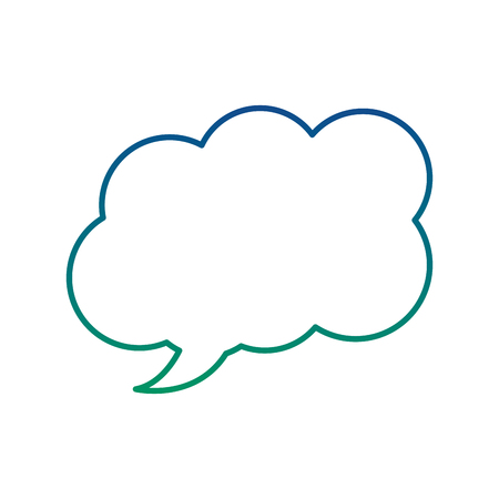 Speech bubble message dialog chat, vector illustration. Stock fotó - 90840272