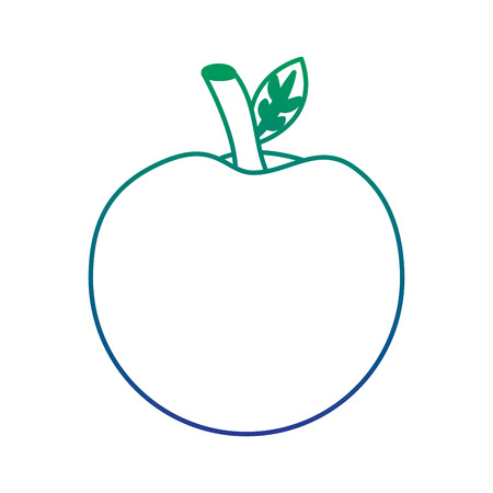 School apple back study elementary symbol, vector illustration.