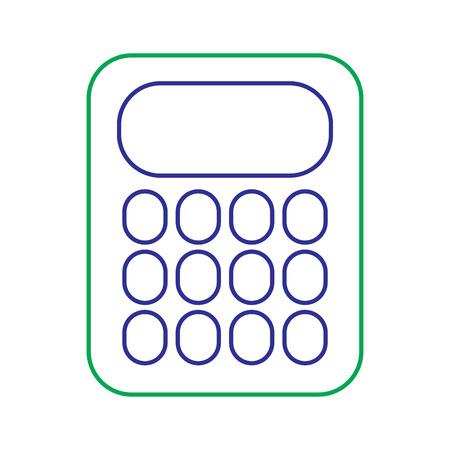 Rekenmachine math van de school telt elektronische, vectorillustratie. Stock Illustratie