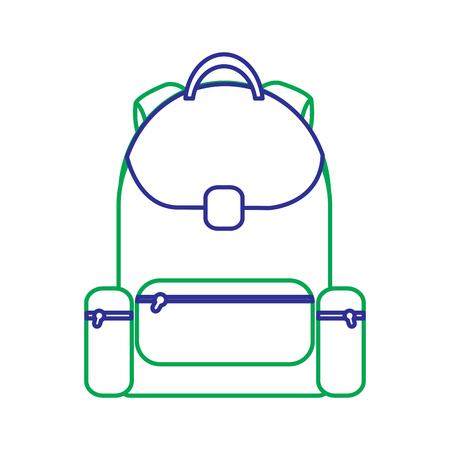 지퍼, 벡터 일러스트와 함께 학교 배낭 가방입니다.