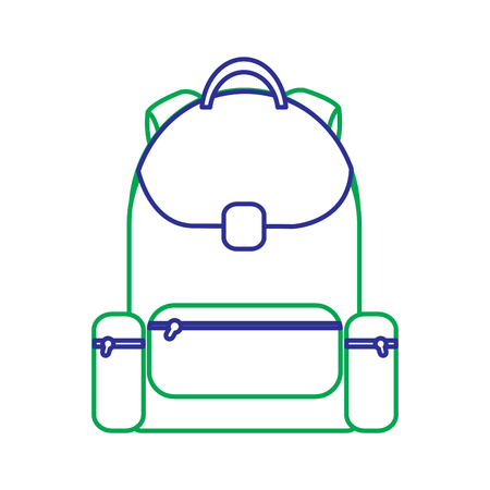 School backpack bag with zipper, vector illustration. Stock Vector - 90840567
