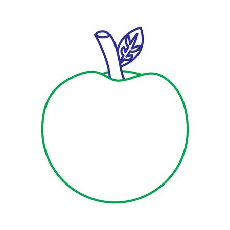 Achter de studie elementair symbool van de schoolappel, vectorillustratie. Stock Illustratie