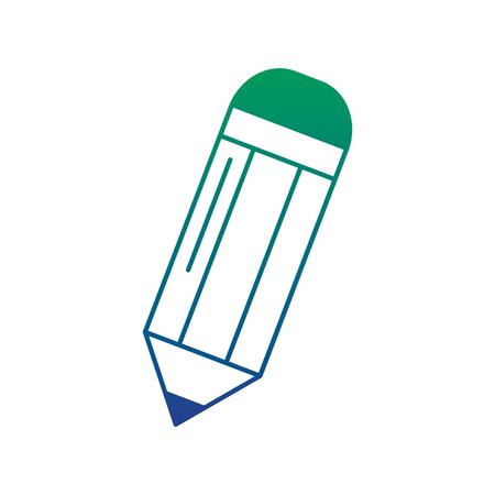 School pencil write supply object eraser vector illustration Ilustração