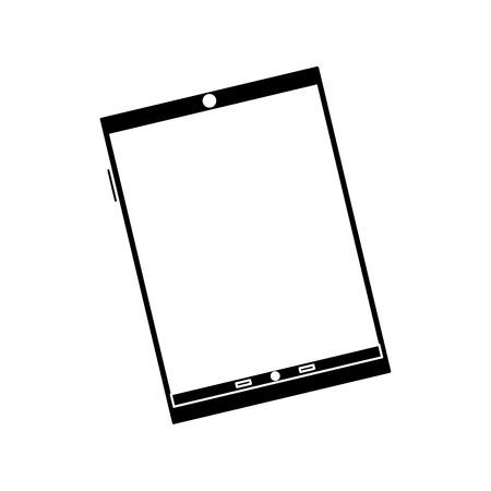 Device technology tablet gadget, vector illustration. Illustration