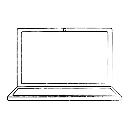 Laptop wifi internet device gadget screen. vector illustration.