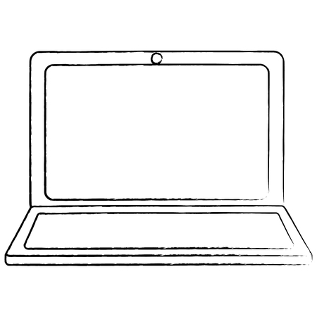 Laptop wifi internet device gadget screen, vector illustration.