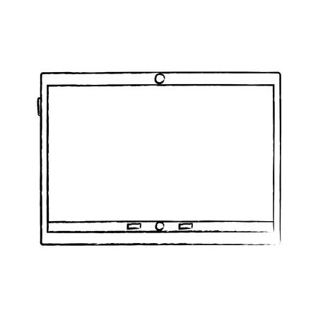 Device technology tablet gadget, vector illustration. Иллюстрация