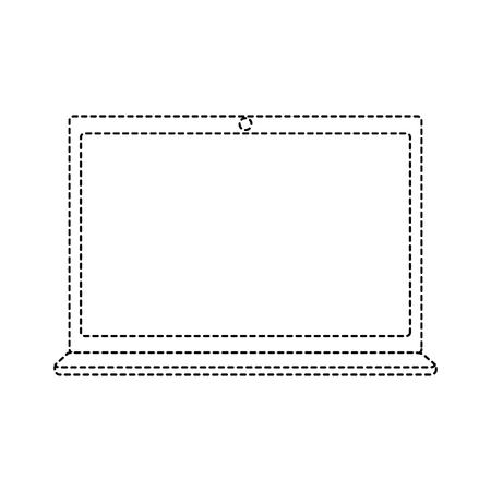 Illustration of laptop isolated on white Ilustração