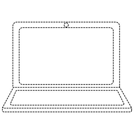 Illustration of laptop isolated on white Ilustrace
