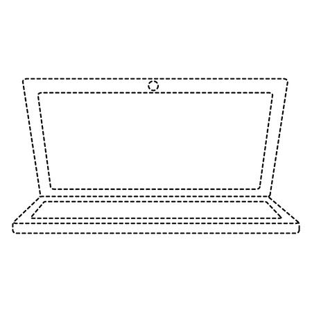 白で隔離されたラップトップのイラスト  イラスト・ベクター素材