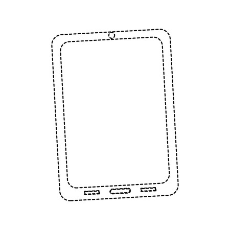 태블릿 또는 흰색에 고립 된 전화의 그림