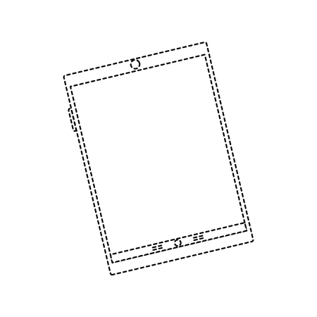 흰색에 고립 된 태블릿의 그림