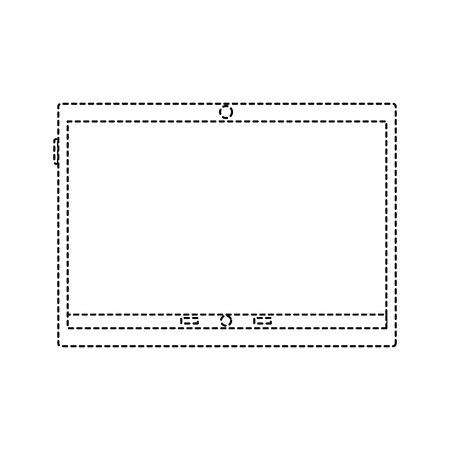 흰색에 고립 된 노트북의 그림