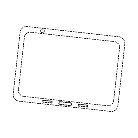 Illustration of a tablet isolated on white 向量圖像
