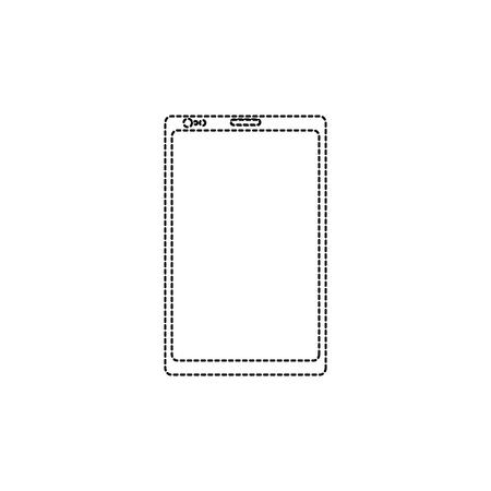 Illustration of a mobile phone gadget isolated on white Illusztráció