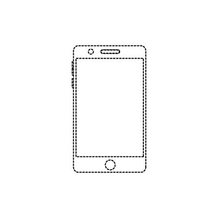 Illustration of a mobile phone gadget isolated on white.