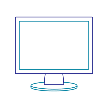 Illustration of computer monitor isolated on white